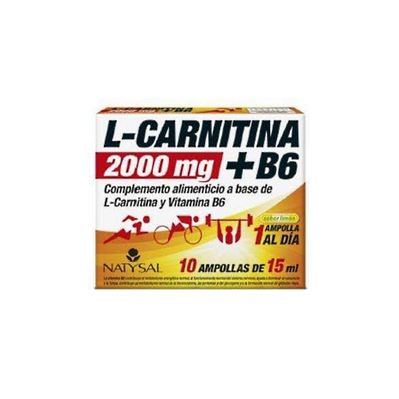 L-CARNITINA 2000 mg + B6  10 ampollas